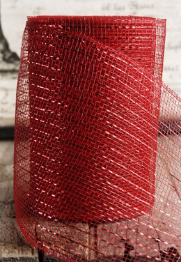 "Red Sparkle Mesh 7"" wide x 60 Feet"