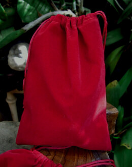 Red Velvet 5x7 Drawstring Bags (25 bags/pkg)