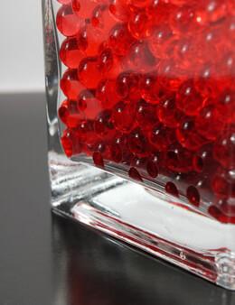 Water Pearls Vase Filler Red