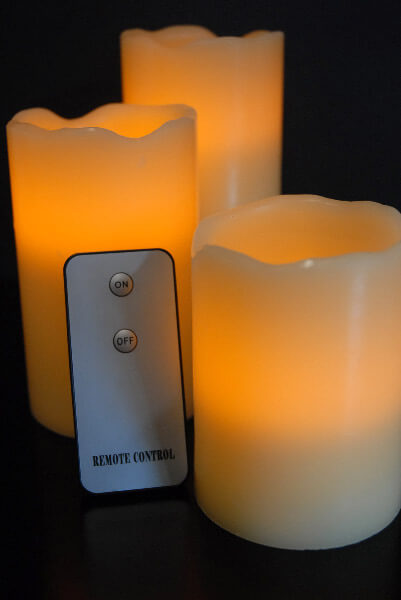 "Remote Control Battery Operated Candles Set (4,"" 5,"" 6"")"