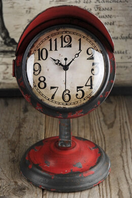Vintage Table Clock Red