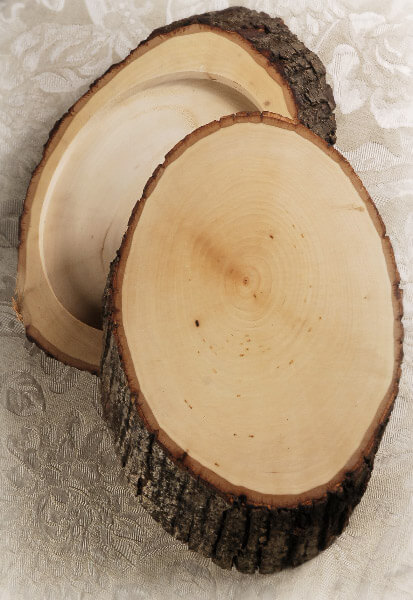"Reversible Wood Tree Slices 1.75"" Thick 7-9"" x 11- 12"""