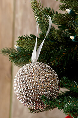Rhinestone Ball Ornament 3-5/8in (Pack of 8)
