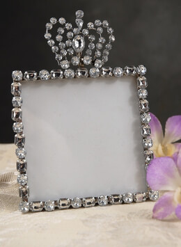 4x4 Rhinestone Frame with Crown