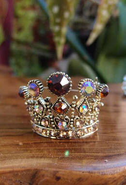 Small Rhinestone Crown Pin for Bouquets