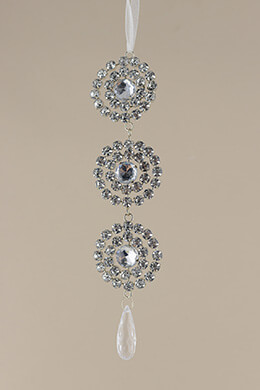 Rhinestone Ornament 9in