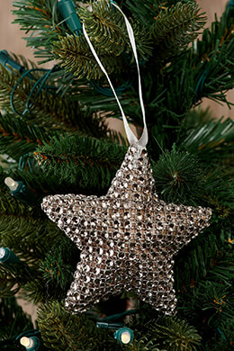 Rhinestone Star Ornament 4in (Pack of 16)