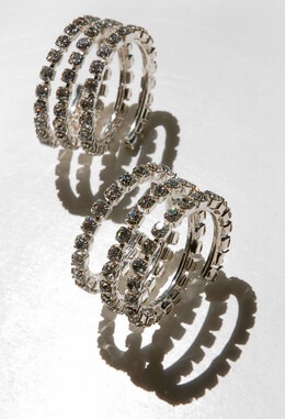 Rhinestone Swirls for Chair Sashes or Napkin Rings, Wedding Decorations