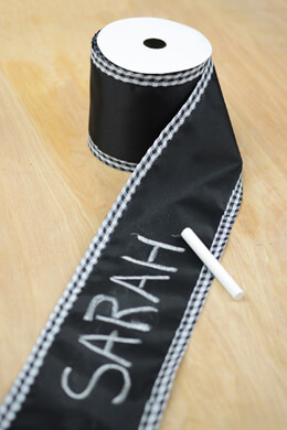 Chalkboard Ribbon Gingham Edge 4in x 10 Yards