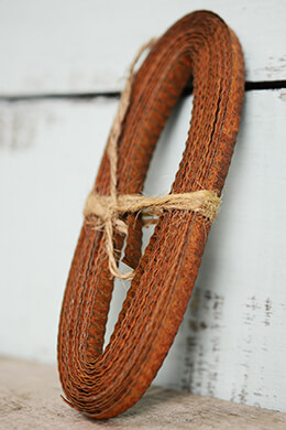 Rusty Corrugated Tin Ribbon 1/4in 15ft