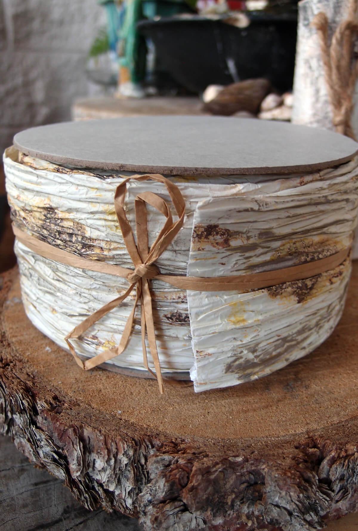 "Birch Paper Ribbon 3"" Width x 5 yds"