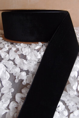 Black Velvet Ribbon SF 1.5in x 10yd