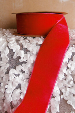 Red Velvet Ribbon SF 1.5in x 10yd