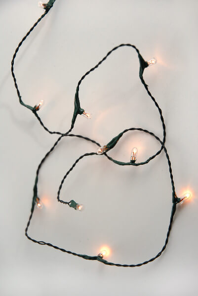 Rice String Lights Battery Operated Green Wire 10 Bulb
