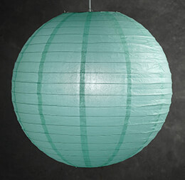 "Paper Lanterns 24"" ROBINS EGG BLUE / AQUA"