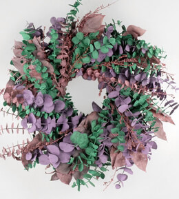 Romance Wreath Natural Eucalyptus Wreath 17in