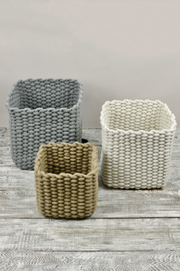 Natural Cotton Rope Baskets Set of 3