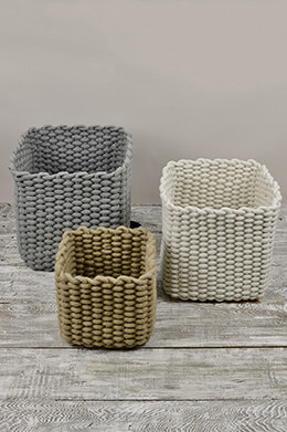 Rope Baskets (Set of 3)