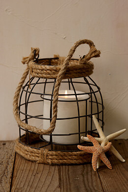 Nautical Rope Lantern 8in