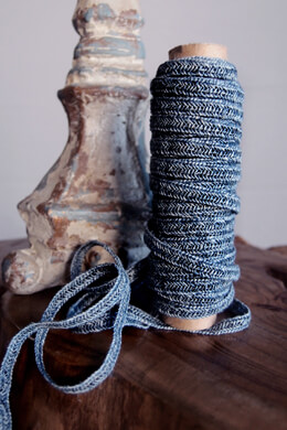 Denim Blue Linen Braided Cord 10 Yds