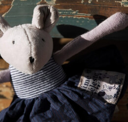 """Rosalie 7"""" Rattle Doll Moulin Roty Toys"""