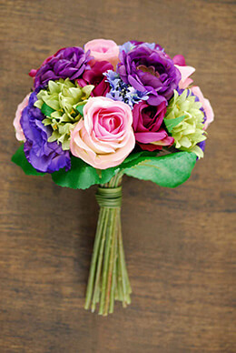Rose and Lisianthus Bouquet 11.5in