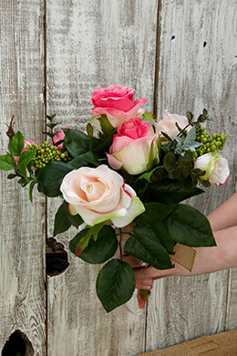Rose Bouquet Blush 12in
