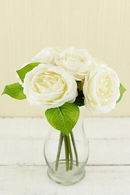 Rose Bouquet Cream 10in