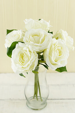 Rose Bouquet Cream 12in
