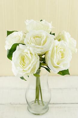 Rose Bouquet Cream 12in
