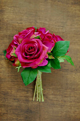 Rose Bouquet Fuchsia 9in