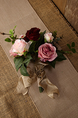 Rose Bouquet Wine and Lilac 12in