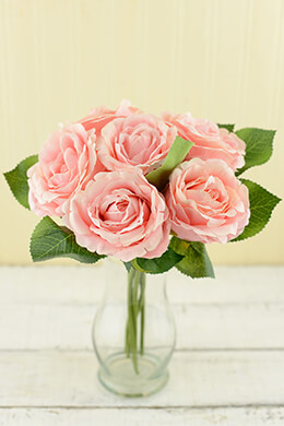 Pink Silk Rose Bouquet