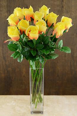 Rose Bud Flower Gold 24in (Set of 12)