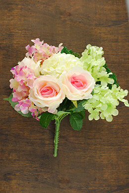 Rose and Hydrangea Bouquet 11in