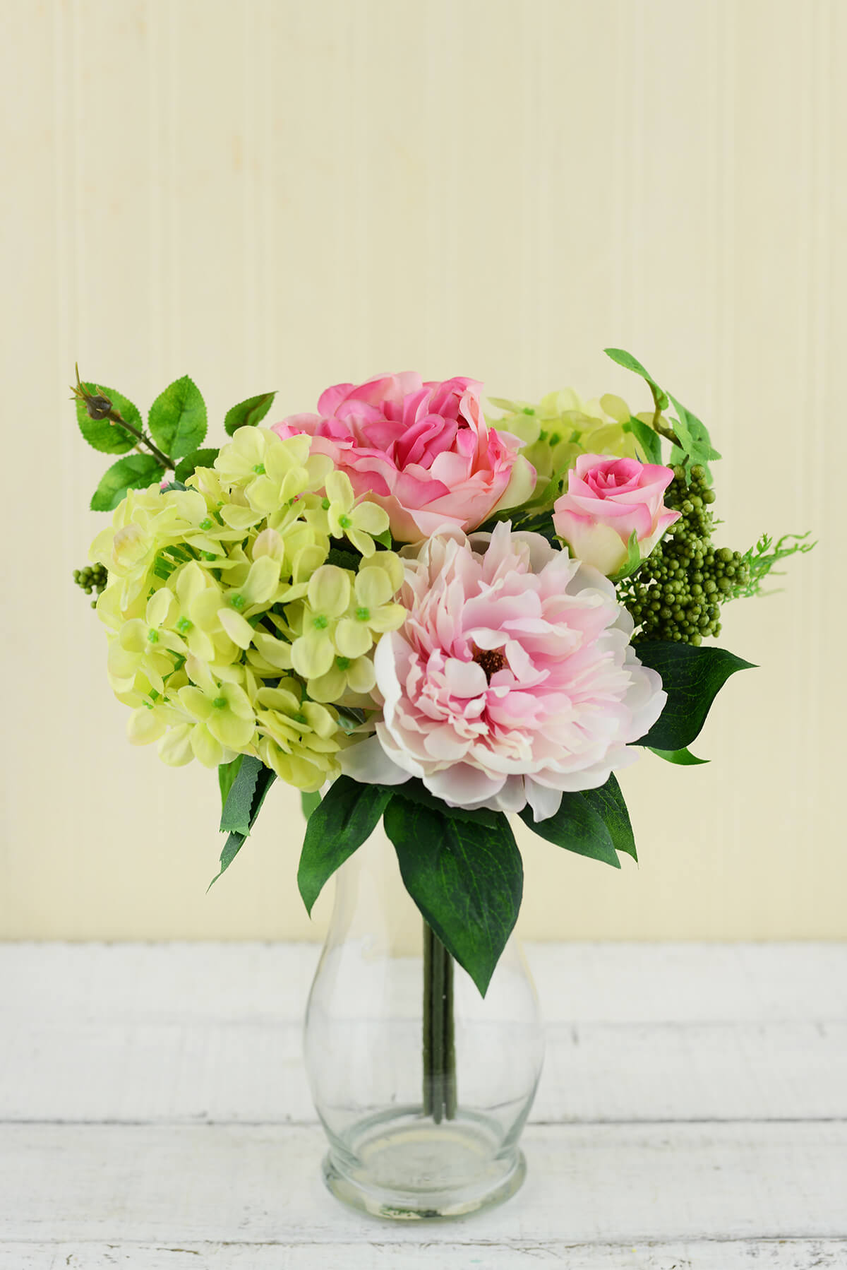 11 Real Roses And 1 Fake Rose Peony Bouquet Pink