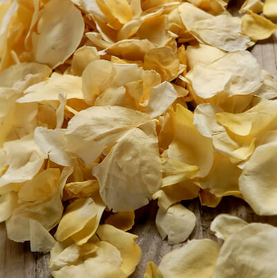 Rose Petals Yellow Freeze Dried (5 cups/pkg)
