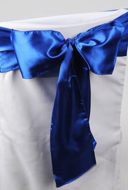 10 Royal Blue Satin Chair Sashes 6x1-6