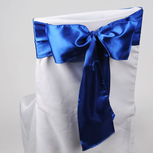 Satin Chair Sashes Royal Blue | Pack of 10