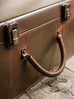 Rusty Metal Latched Box Suitcase, Props 12 x8