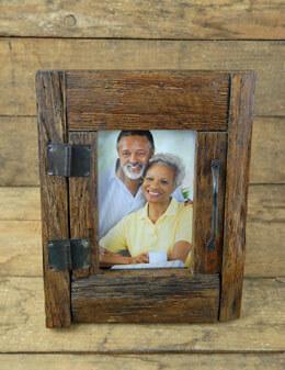 Rustic Wood Door Picture Frame