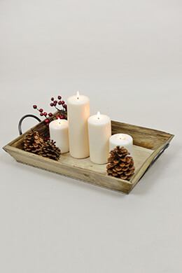 Rustic Wood Tray 20.5in