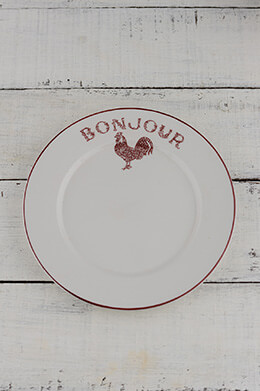 Salad Plate Red Rooster (Pack of 4)