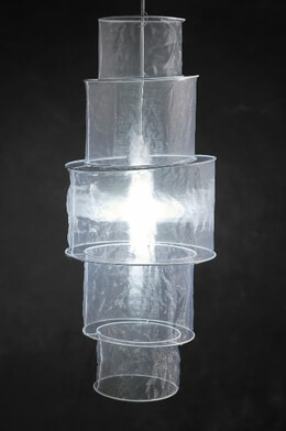 Sari Lanterns White 5 Tier Round Cylinder Organza 33in