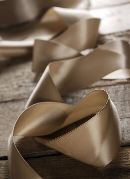 Double Faced Satin Ribbon Taupe 1.5in