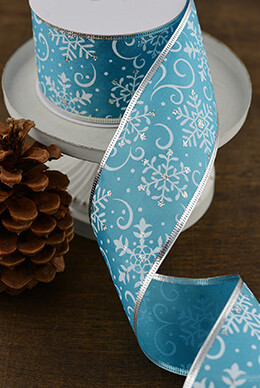 Satin Ribbon Snowflakes 2.5in x 10yd