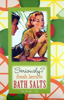 Seriously? Fresh Lemon Bluebird Bath Salts 4oz.
