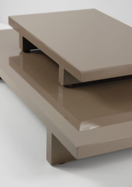 Set of Two Table Display Risers Taupe MDF Boards