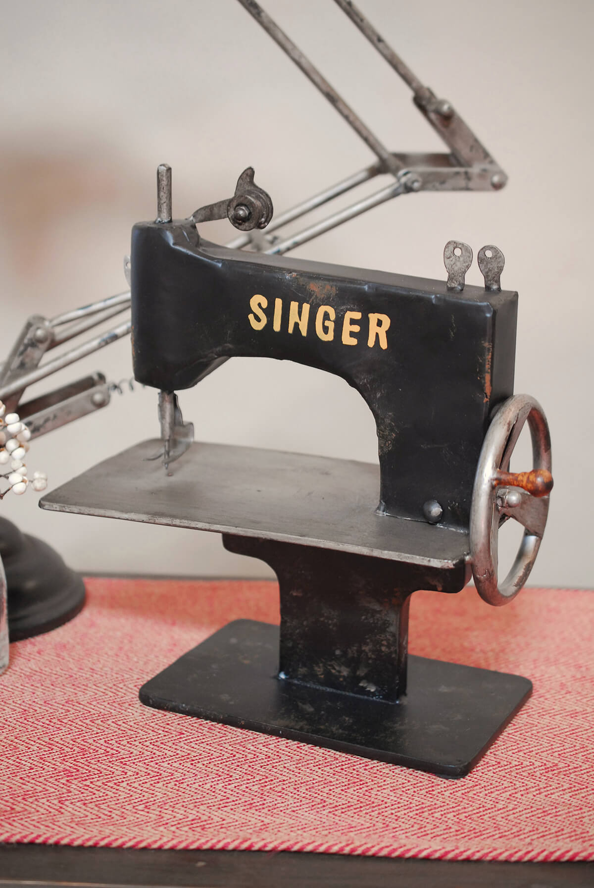 Vintage Sewing Machine Decoration 12in