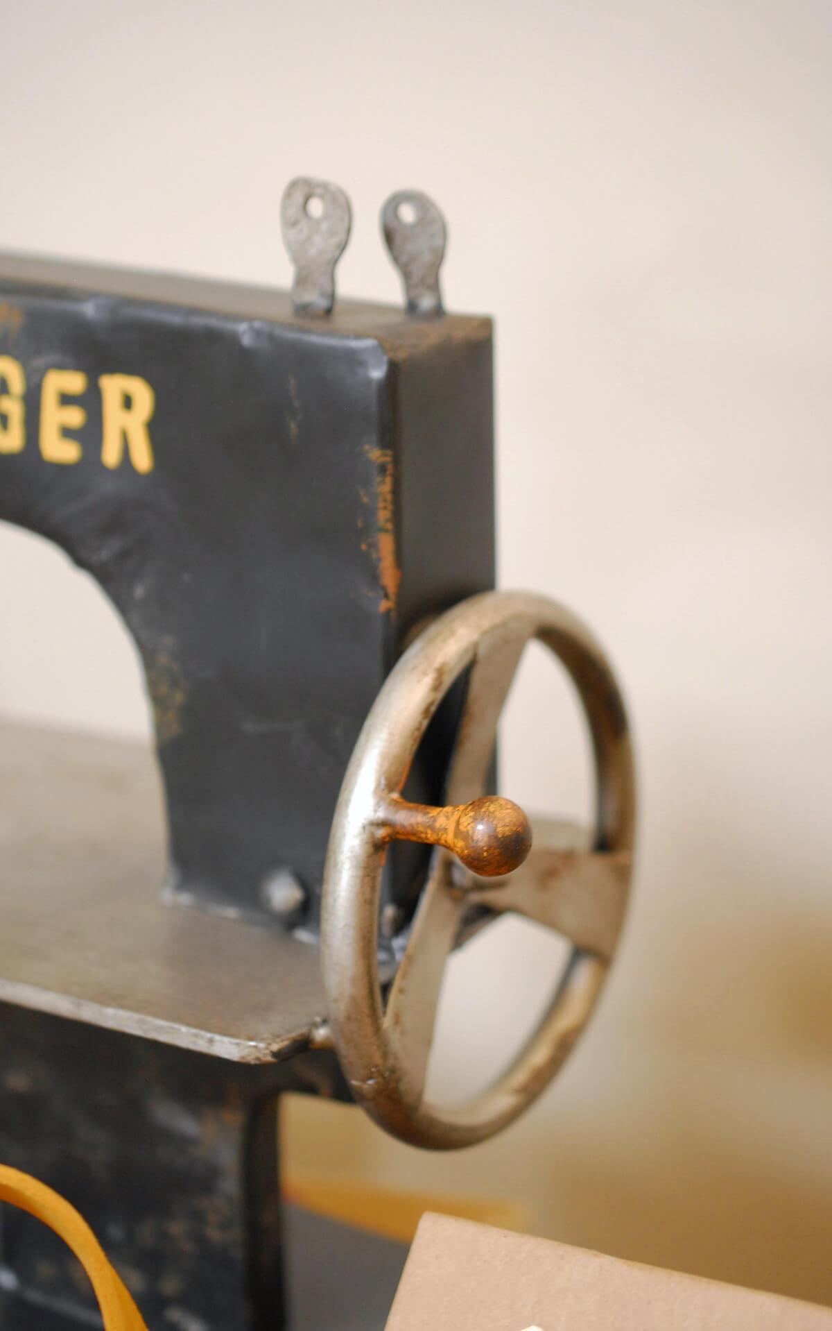 Vintage Sewing Machine Prop 12.5 x 12.5